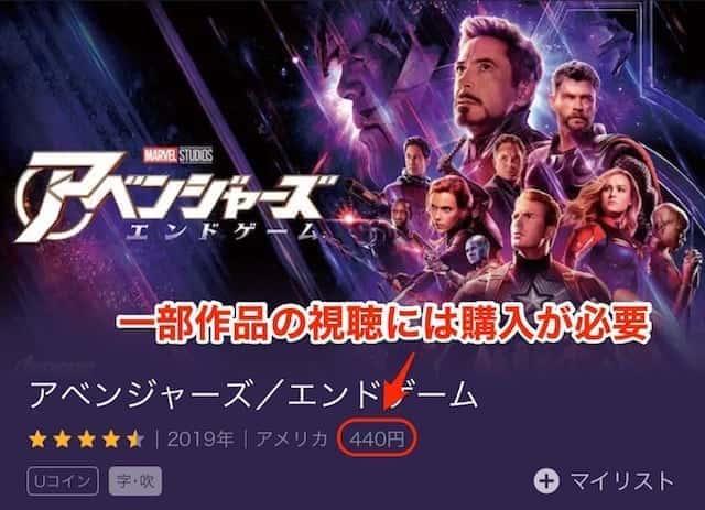 マーベル U-NEXT VOD